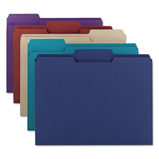 Smead Deep Assorted Colored File Folders