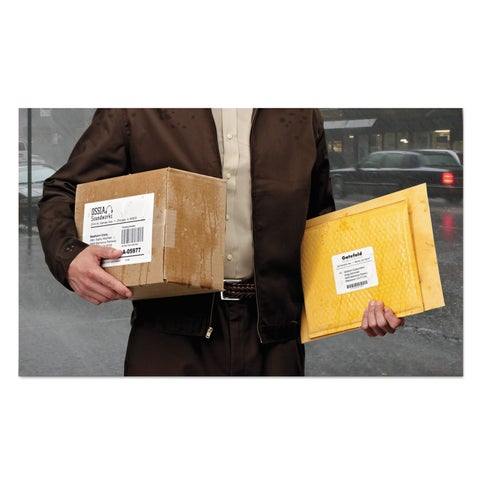 Avery White Weatherproof Laser Shipping Labels,