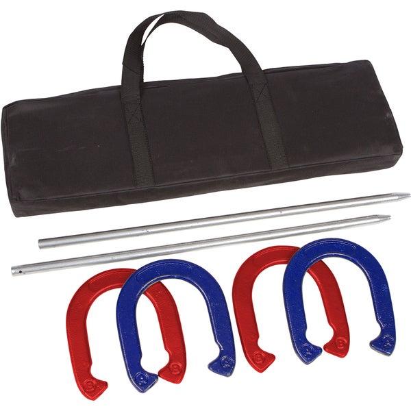 Trademark Innovations Red/ Blue Pro Horseshoe Set