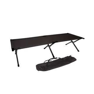 Trademark Innovations Black Aluminum Camping Portable Cot