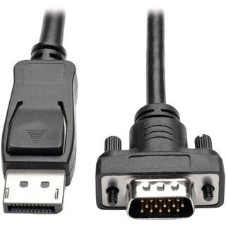 Tripp Lite 10ft DisplayPort to VGA Cable / DP to VGA Adpater Latches