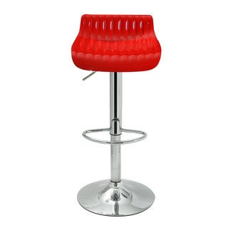 Adeco Adjustable Glossy Swivel Bar Counter Stools with 360-degree Rotation (Set of 2)