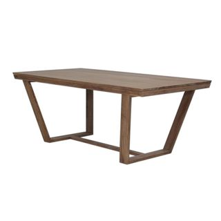 Decorative Edgewater Brown Rectangle Dining Table