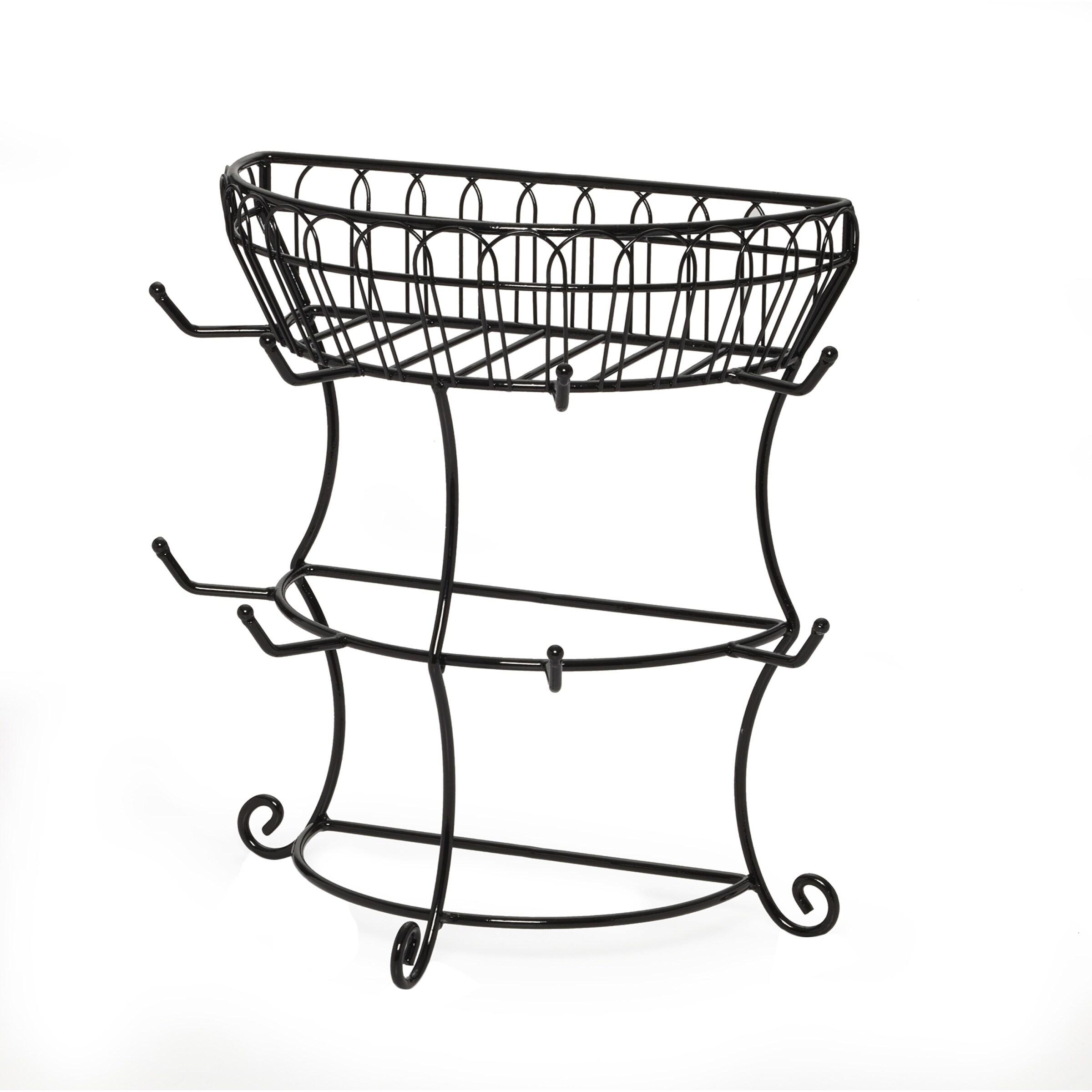 MIKASA French Countryside Flatback Mug Tree With Basket (...