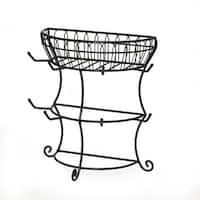 Gourmet Basics by Mikasa French Countryside Flatback Mug Tree With Basket