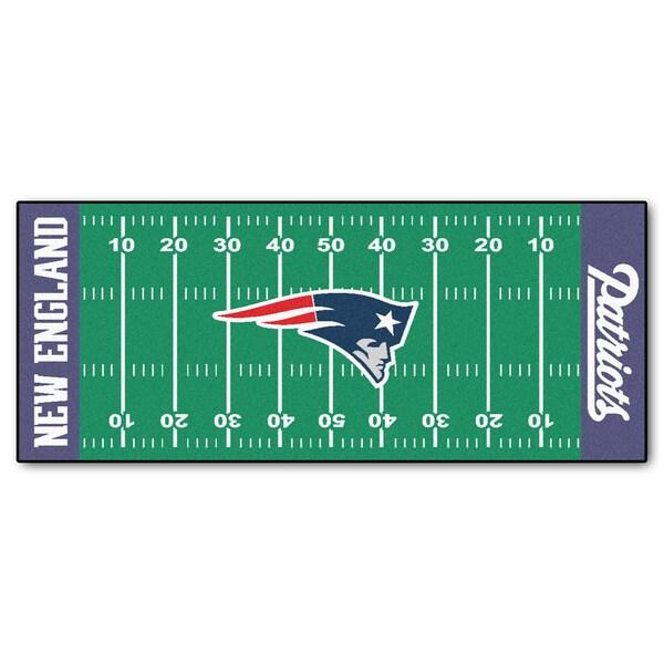 Fanmats Machine-made New England Patriots Green Nylon ...