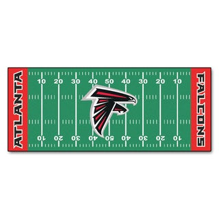 Fanmats Machine-made Atlanta Falcons Green Nylon Football Field Runner (2'5 x 6')