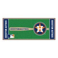 Fanmats Machine-made Houston Astros Green Nylon Baseball Runner (2'5 x 6')