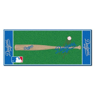 Fanmats Machine-made Los Angeles Dodgers Green Nylon Baseball Runner (2'5 x 6')