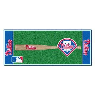 Fanmats Machine-made Philadelphia Phillies Green Nylon Baseball Runner (2'5 x 6')