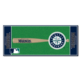Fanmats Machine-made Seattle Mariners Green Nylon Baseball Runner (2'5 x 6')