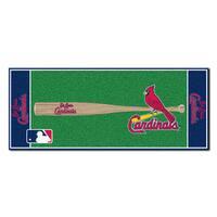 Fanmats Machine-made St Louis Cardinals Green Nylon Baseball Runner (2'5 x 6')