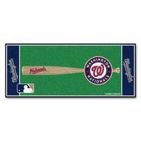 Fanmats Machine-made Washington Nationals Green Nylon Baseball Runner (2'5 x 6')