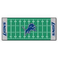Fanmats Machine-made Detroit Lions Green Nylon Football Field Runner (2'5 x 6')