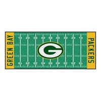 Fanmats Machine-made Green Bay Packers Green Nylon Football Field Runner (2'5 x 6')