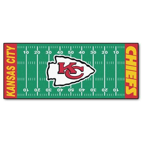 """FANMATS NFL - Kansas City Chiefs Football Field Runner 30""""x72"""""""