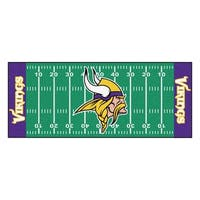 Fanmats Machine-made Minnesota Vikings Green Nylon Football Field Runner (2'5 x 6')