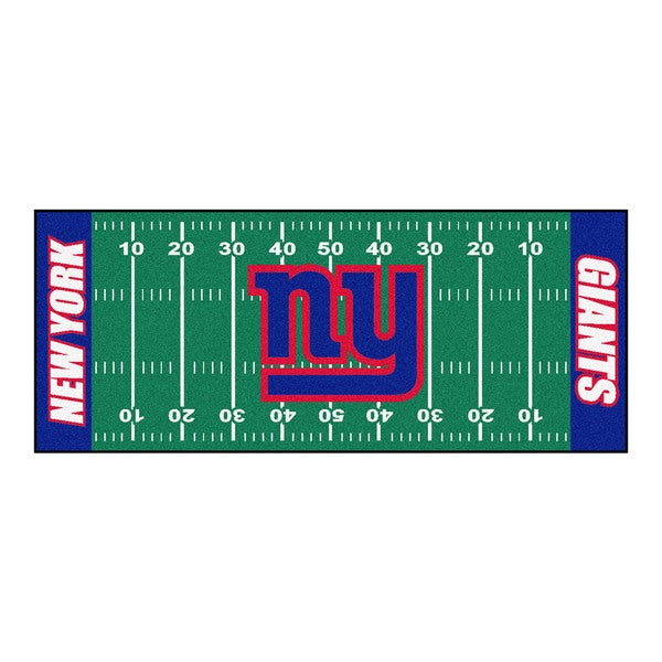 Fanmats Machine-made New York Giants Green Nylon Football Field Runner (2'5 x 6')