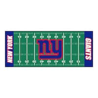 Fanmats Machine-made New York Giants Green Nylon Football Field Runner (2'5 x 6')