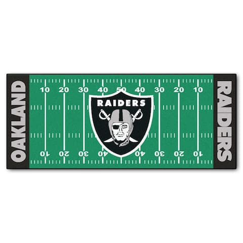 "FANMATS NFL - Oakland Raiders Football Field Runner 30""x72"""