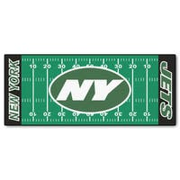 Fanmats Machine-made New York Jets Green Nylon Football Field Runner (2'5 x 6')