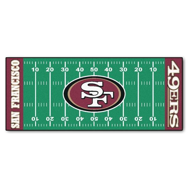 Fanmats Machine-made San Francisco 49ers Green Nylon Football Field Runner (2'5 x 6')