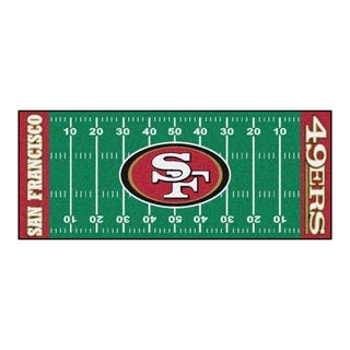 Fanmats Machine-made San Francisco 49ers Green Nylon Football Field Runner (2'5 x 6')