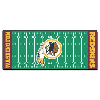 Fanmats Machine-made Washington Redskins Green Nylon Football Field Runner (2'5 x 6')