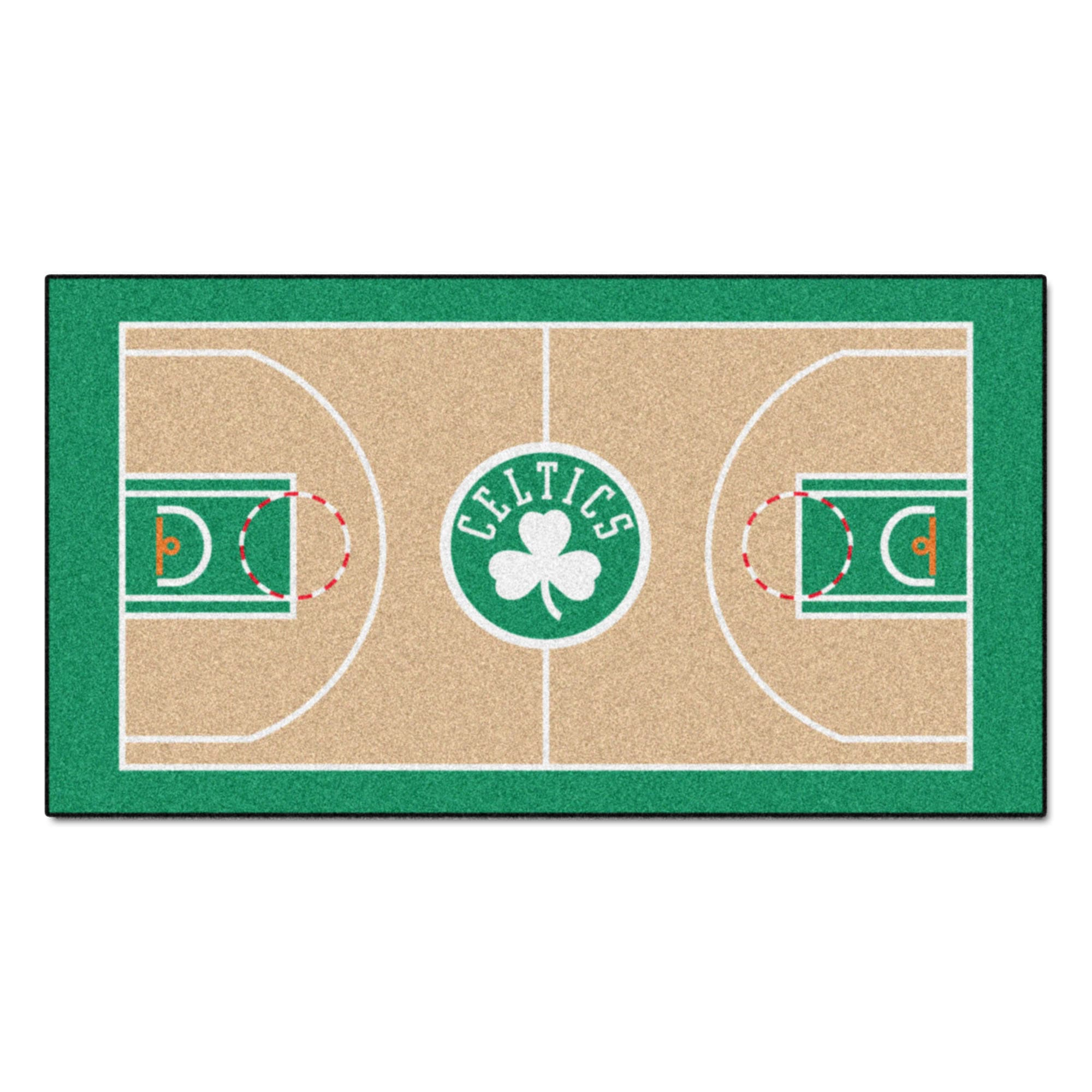 Fan Mats Machine-made Boston Celtics Tan Nylon Large Cour...