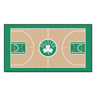 Fanmats Machine-made Boston Celtics Tan Nylon Large Court Runner (2'4 x 4'5)