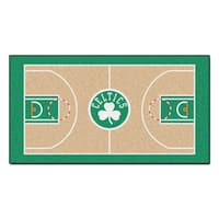 Fanmats Machine-made Boston Celtics Tan Nylon Large Court Runner (2'4 x 4'5)