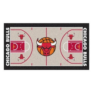 Fanmats Machine-made Chicago Bulls Tan Nylon Large Court Runner (2'4 x 4'5)|https://ak1.ostkcdn.com/images/products/10130756/P17268041.jpg?impolicy=medium