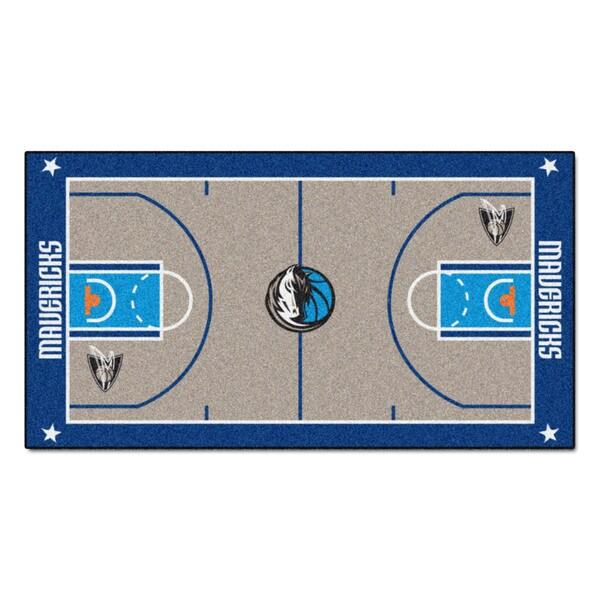 Fanmats Machine-made Dallas Mavericks Grey Nylon Large Court Runner (2'4 x 4'5)