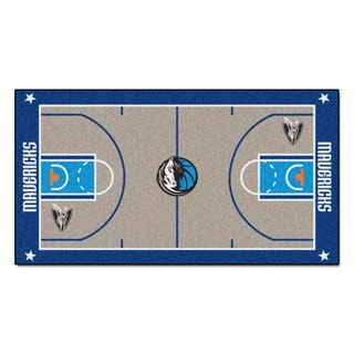 Fanmats Machine-made Dallas Mavericks Grey Nylon Large Court Runner (2'4 x 4'5)
