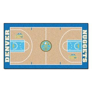 Fanmats Machine-made Denver Nuggets Tan Nylon Large Court Runner (2'4 x 4'5)