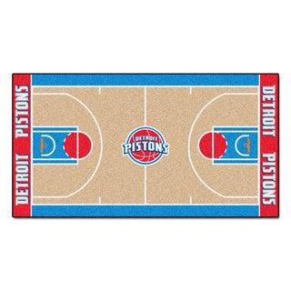 Fanmats Machine-made Detroit Pistons Tan Nylon Large Court Runner (2'4 x 4'5)