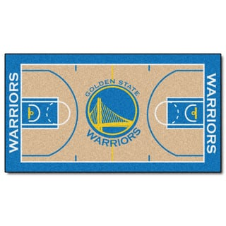 Fanmats Machine-made Golden State Warriors Tan Nylon Large Court Runner (2'4 x 4'5)|https://ak1.ostkcdn.com/images/products/10130762/P17268046.jpg?impolicy=medium