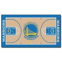 Fanmats Machine-made Golden State Warriors Tan Nylon Large Court Runner (2'4 x 4'5)