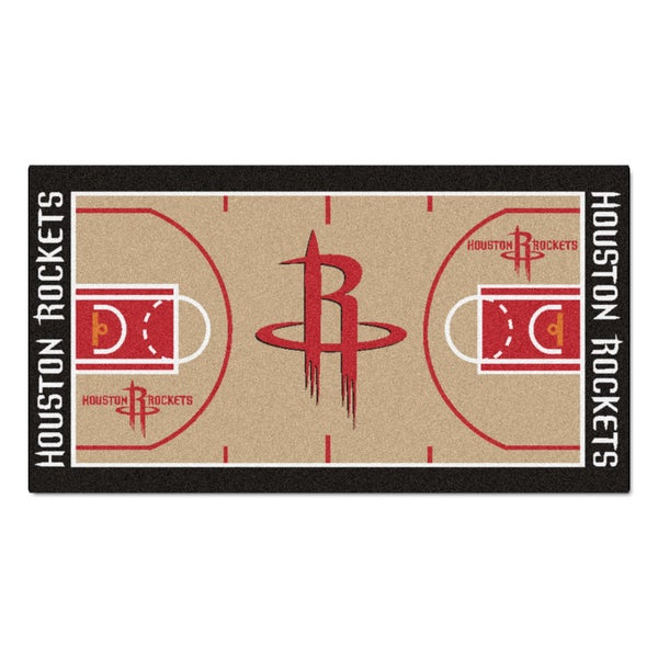 Fanmats Machine-made Houston Rockets Tan Nylon Large Court Runner (2'4 x 4'5)