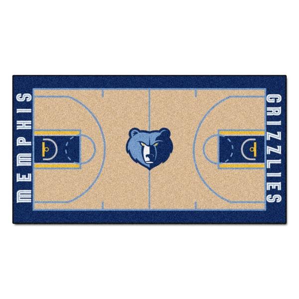 Fanmats Machine-made Memphis Grizzlies Tan Nylon Large Court Runner (2'4 x 4'5)
