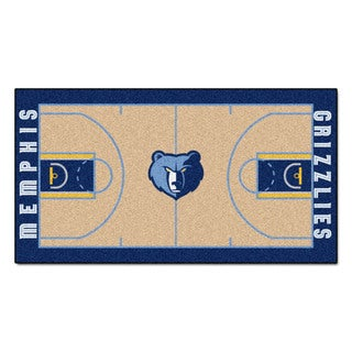 Fanmats Machine-made Memphis Grizzlies Tan Nylon Large Court Runner (2'4 x 4'5)