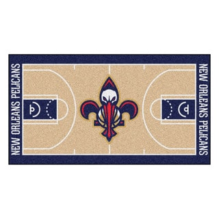 Fanmats Machine-made New Orleans Pelicans Tan Nylon Large Court Runner (2'4 x 4'5)