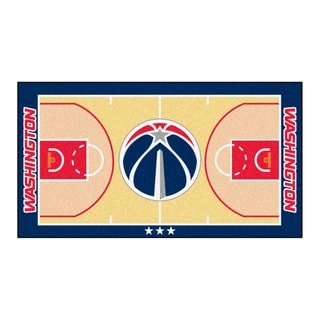 Fanmats Machine-made Washington Wizards Tan Nylon Large Court Runner (2'4 x 4'5)