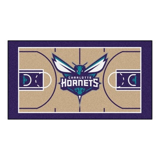 Fanmats Machine-made Charlotte Bobcats Tan Nylon Court Runner (2' x 3'6)