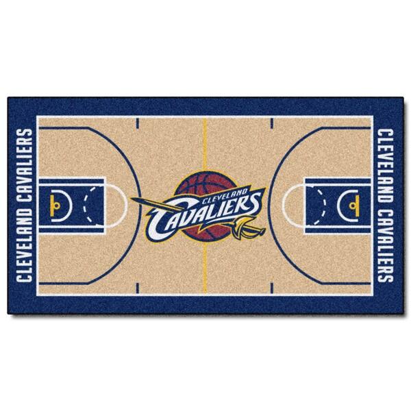 Fanmats Machine-made Cleveland Cavaliers Tan Nylon Court Runner (2' x 3'6)