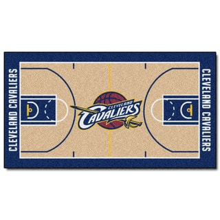 Fanmats Machine-made Cleveland Cavaliers Tan Nylon Court Runner (2' x 3'6)