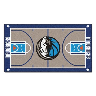 Fanmats Machine-made Dallas Mavericks Grey Nylon Court Runner (2' x 3'6)|https://ak1.ostkcdn.com/images/products/10130789/P17268070.jpg?_ostk_perf_=percv&impolicy=medium