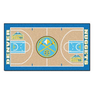 Fanmats Machine-made Denver Nuggets Tan Nylon Court Runner (2' x 3'6)