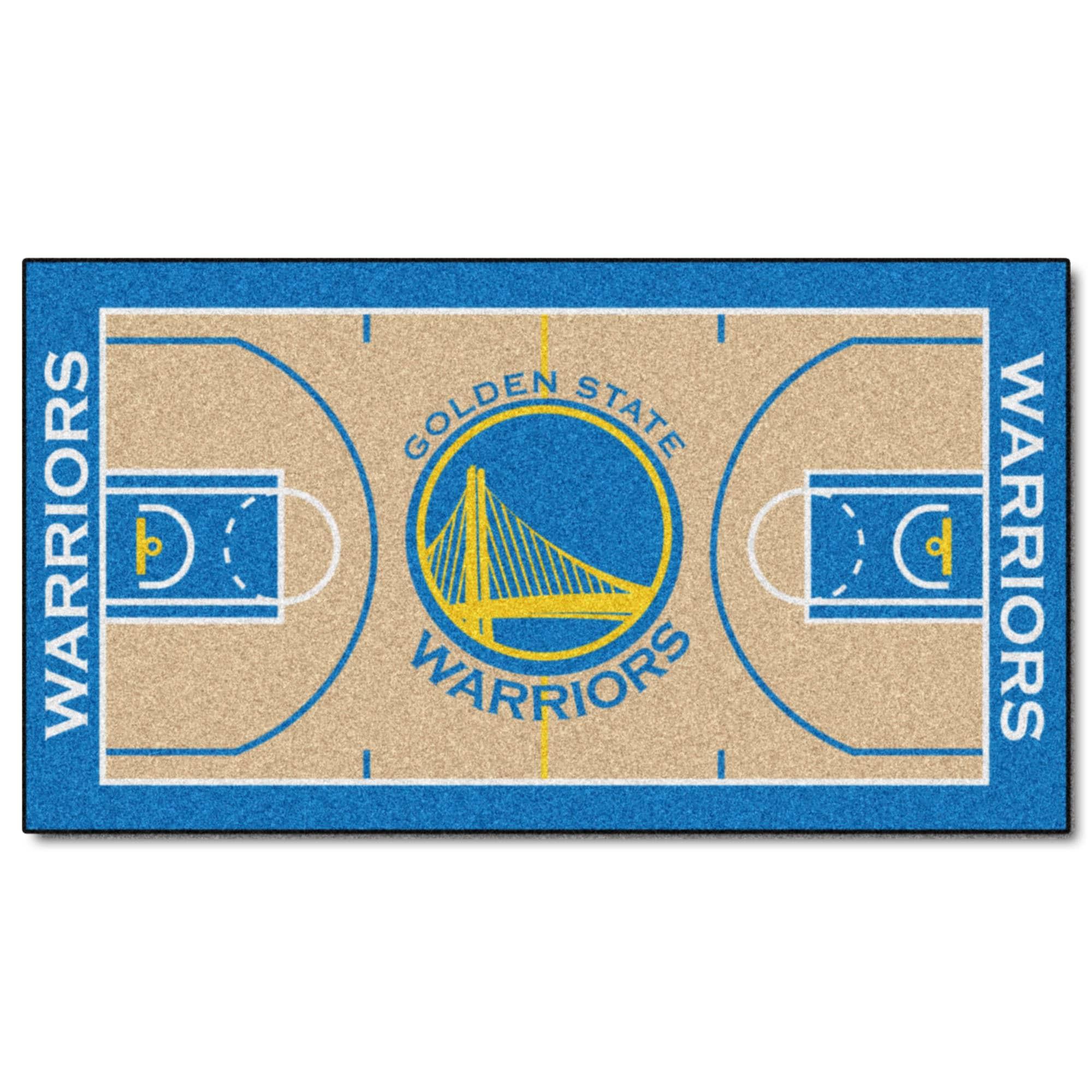 Fan Mats Machine-made Golden State Warriors Tan Nylon Cou...