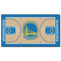 Fanmats Machine-made Golden State Warriors Tan Nylon Court Runner (2' x 3'6)